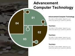 Advancement Computer Technology Ppt Powerpoint Presentation File Master Slide Cpb