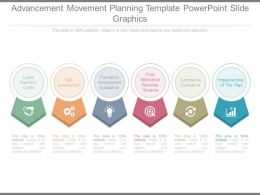 Advancement Movement Planning Template Powerpoint Slide Graphics