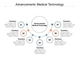 Advancements Medical Technology Ppt Powerpoint Presentation File Example File Cpb