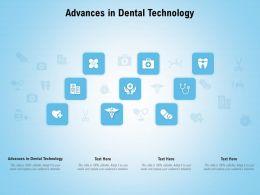 Advances In Dental Technology Ppt Powerpoint Presentation Portfolio Smartart