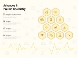 Advances In Protein Chemistry Ppt Powerpoint Presentation Outline Show