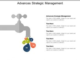 Advances Strategic Management Ppt Powerpoint Presentation Icon Styles Cpb