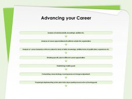 Advancing Your Career Individual Skills Ppt Powerpoint Presentation Layouts