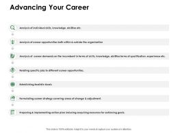 Advancing Your Career Knowledge Ppt Powerpoint Presentation Show Ideas