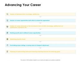 Advancing Your Career Ppt Powerpoint Presentation Icon Guidelines
