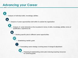 Advancing Your Career Ppt Powerpoint Presentation Portfolio Structure
