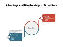 Advantage And Disadvantage Of Divestiture