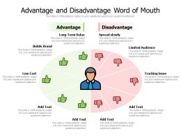Advantage And Disadvantage Word Of Mouth