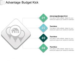 Advantage Budget Kick Ppt Powerpoint Presentation Diagram Graph Charts Cpb