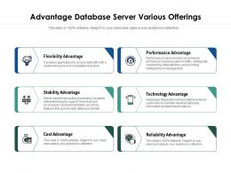Advantage Database Server Various Offerings