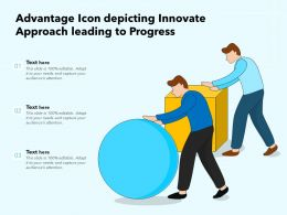Advantage Icon Depicting Innovate Approach Leading To Progress