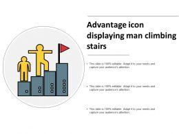 Advantage Icon Displaying Man Climbing Stairs