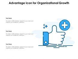 Advantage Icon For Organizational Growth