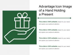 Advantage Icon Image Of A Hand Holding