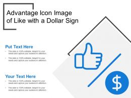 Advantage Icon Image Of Like With A Dollar Sign