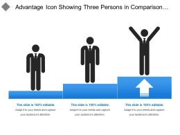 Advantage Icon Showing Three Persons In Comparison Steps