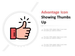 Advantage Icon Showing Thumbs Up