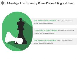 Advantage Icon Shown By Chess Piece Of King And Pawn