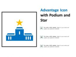 Advantage Icon With Podium And Star