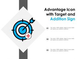 Advantage Icon With Target And Addition Sign
