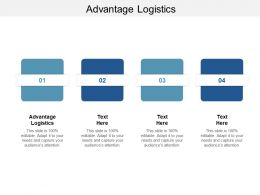 Advantage Logistics Ppt Powerpoint Presentation File Example Cpb