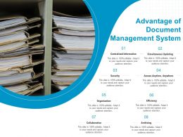Advantage Of Document Management System