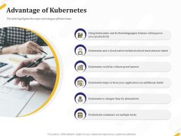 Advantage Of Kubernetes Productivity Ppt Powerpoint Presentation Gallery Example