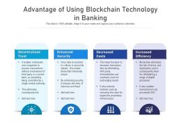 Advantage Of Using Blockchain Technology In Banking