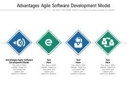 Advantages Agile Software Development Model Ppt Powerpoint Presentation Portfolio Designs Cpb