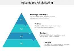 Advantages AI Marketing Ppt Powerpoint Presentation Diagram Graph Charts Cpb