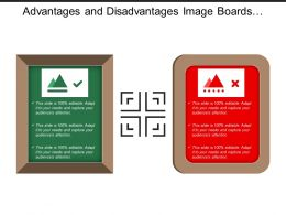 Advantages And Disadvantages Image Boards With Tick And Wrong Images