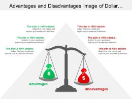 Advantages And Disadvantages Image Of Dollar Bags On A Scale
