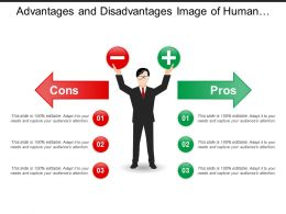 Advantages And Disadvantages Image Of Human With Positive Negative In Hands