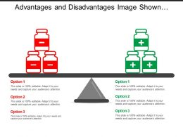 Advantages And Disadvantages Image Shown By Positive Negative Signs In Jars
