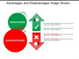 Advantages And Disadvantages Image Shown By Thumbs Up Down Wrong Right Image