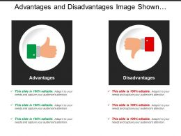 Advantages And Disadvantages Image Shown With Thumbs Up And Down