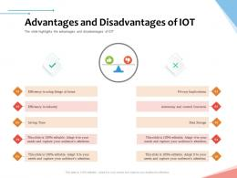 Advantages And Disadvantages Of IoT Internet Of Things IOT Overview Ppt Powerpoint Presentation Tips