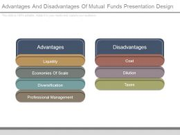 Advantages And Disadvantages Of Mutual Funds Presentation Design