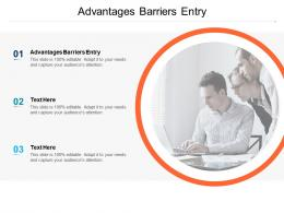 Advantages Barriers Entry Ppt Powerpoint Presentation Infographic Template Inspiration Cpb