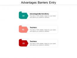 Advantages Barriers Entry Ppt Powerpoint Presentation Portfolio Visuals Cpb