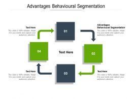Advantages Behavioural Segmentation Ppt Powerpoint Presentation Icon Styles Cpb