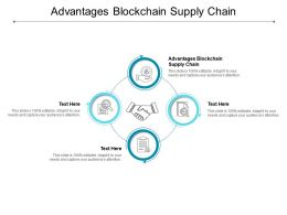 Advantages Blockchain Supply Chain Ppt Powerpoint Presentation Inspiration Layout Ideas Cpb
