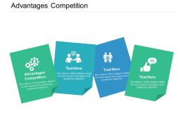 Advantages Competition Ppt Powerpoint Presentation Deck Cpb