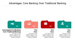 Advantages Core Banking Over Traditional Banking Ppt Powerpoint Presentation File Graphics Tutorials Cpb