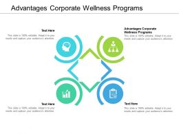 Advantages Corporate Wellness Programs Ppt Powerpoint Presentation Show Cpb