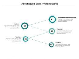 Advantages Data Warehousing Ppt Powerpoint Presentation Outline File Formats Cpb