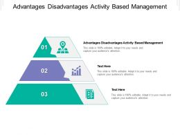 Advantages Disadvantages Activity Based Management Ppt Powerpoint Presentation Cpb