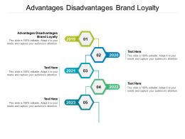 Advantages Disadvantages Brand Loyalty Ppt Powerpoint Presentation Styles Gridlines Cpb