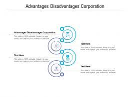 Advantages Disadvantages Corporation Ppt Powerpoint Presentation Ideas Cpb