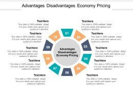 Advantages Disadvantages Economy Pricing Ppt Powerpoint Presentation Infographic Template Cpb